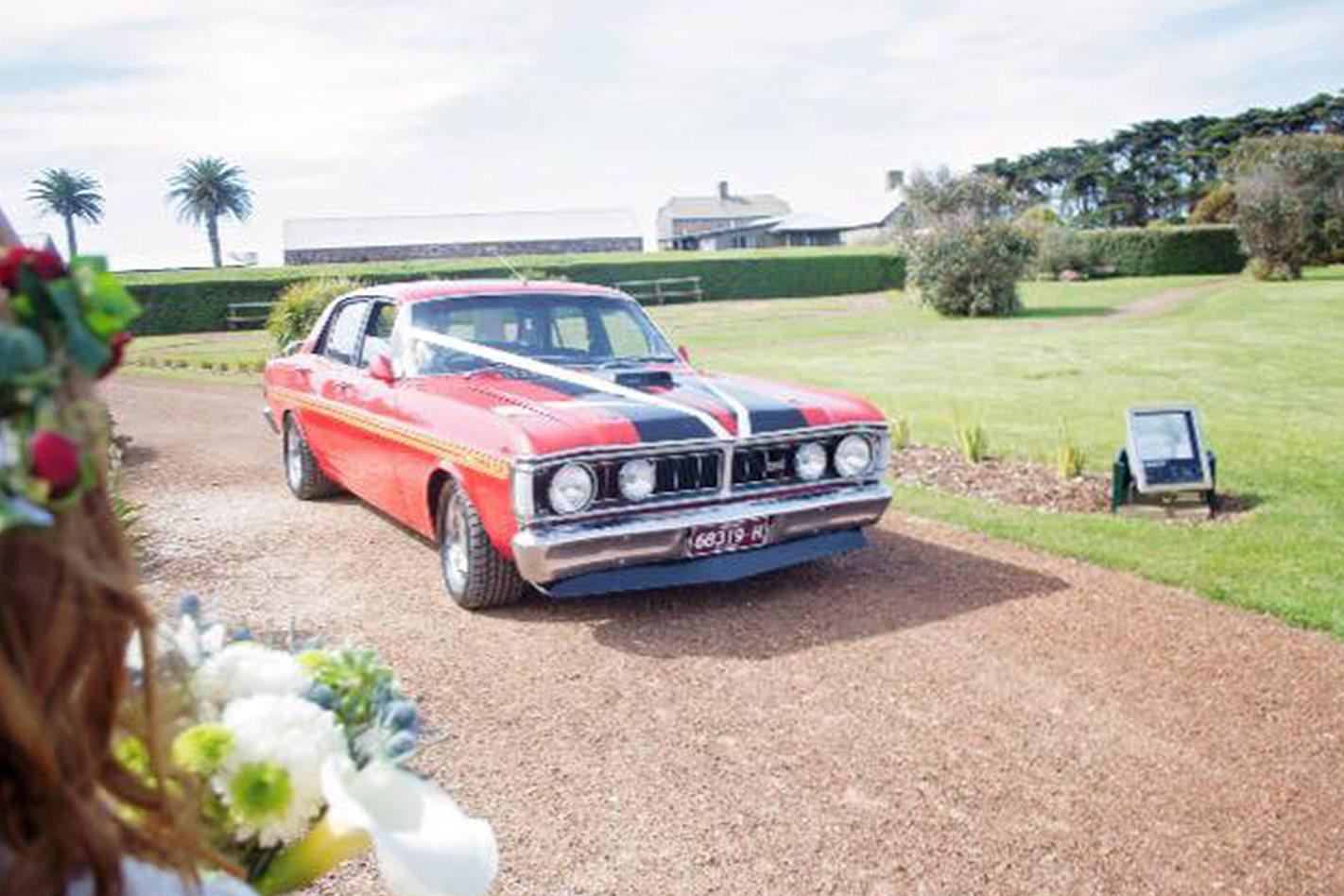 Justin Medwin's Falcon wedding car
