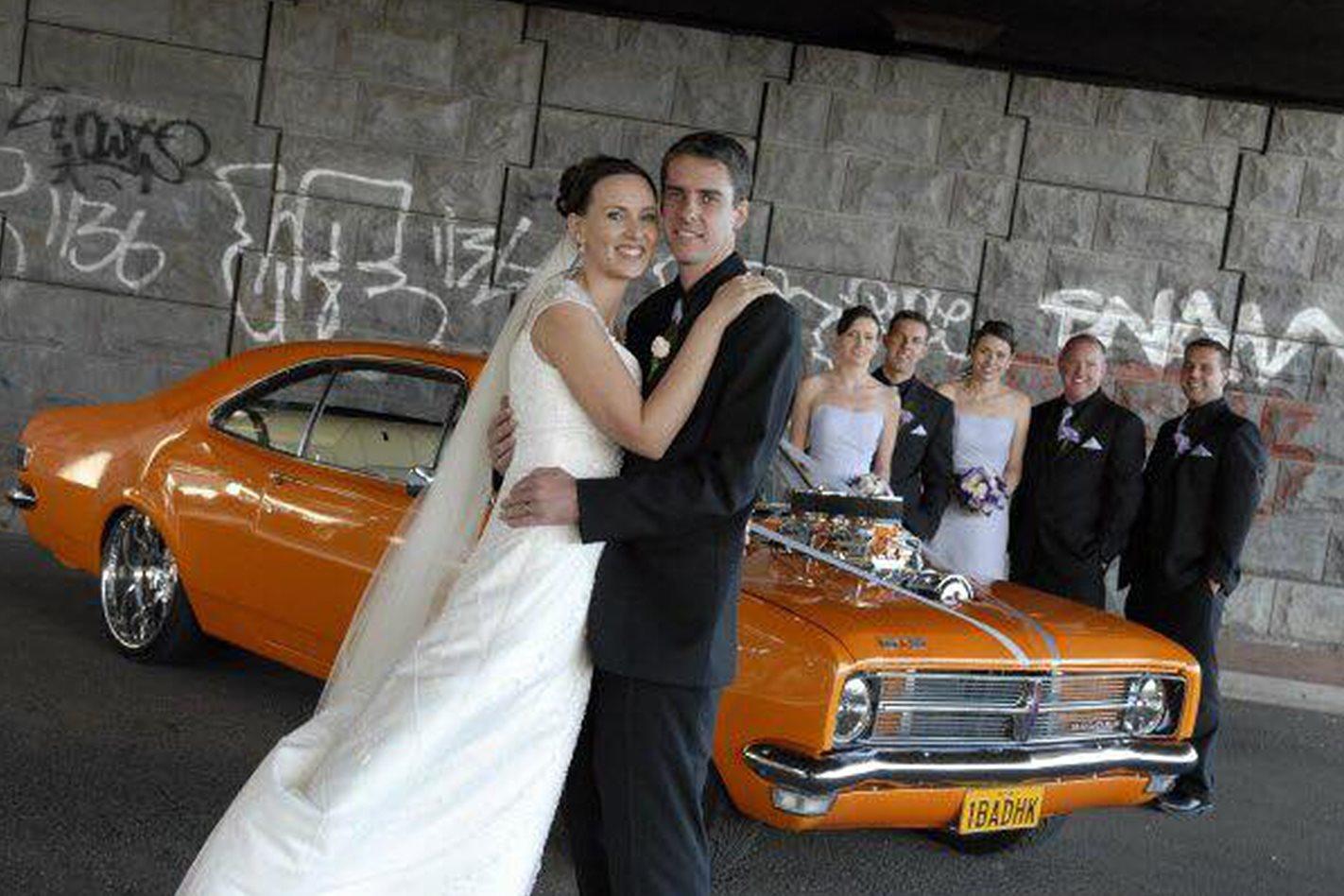 Scott Vickery's wedding car