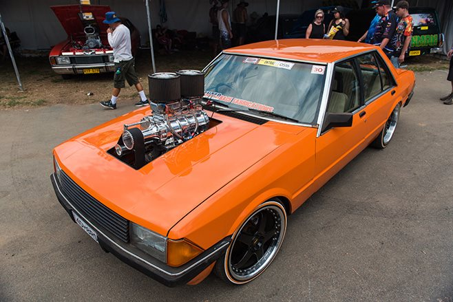 Robert Cottrell's Blown LS Powered XD Ford Falcon exterior