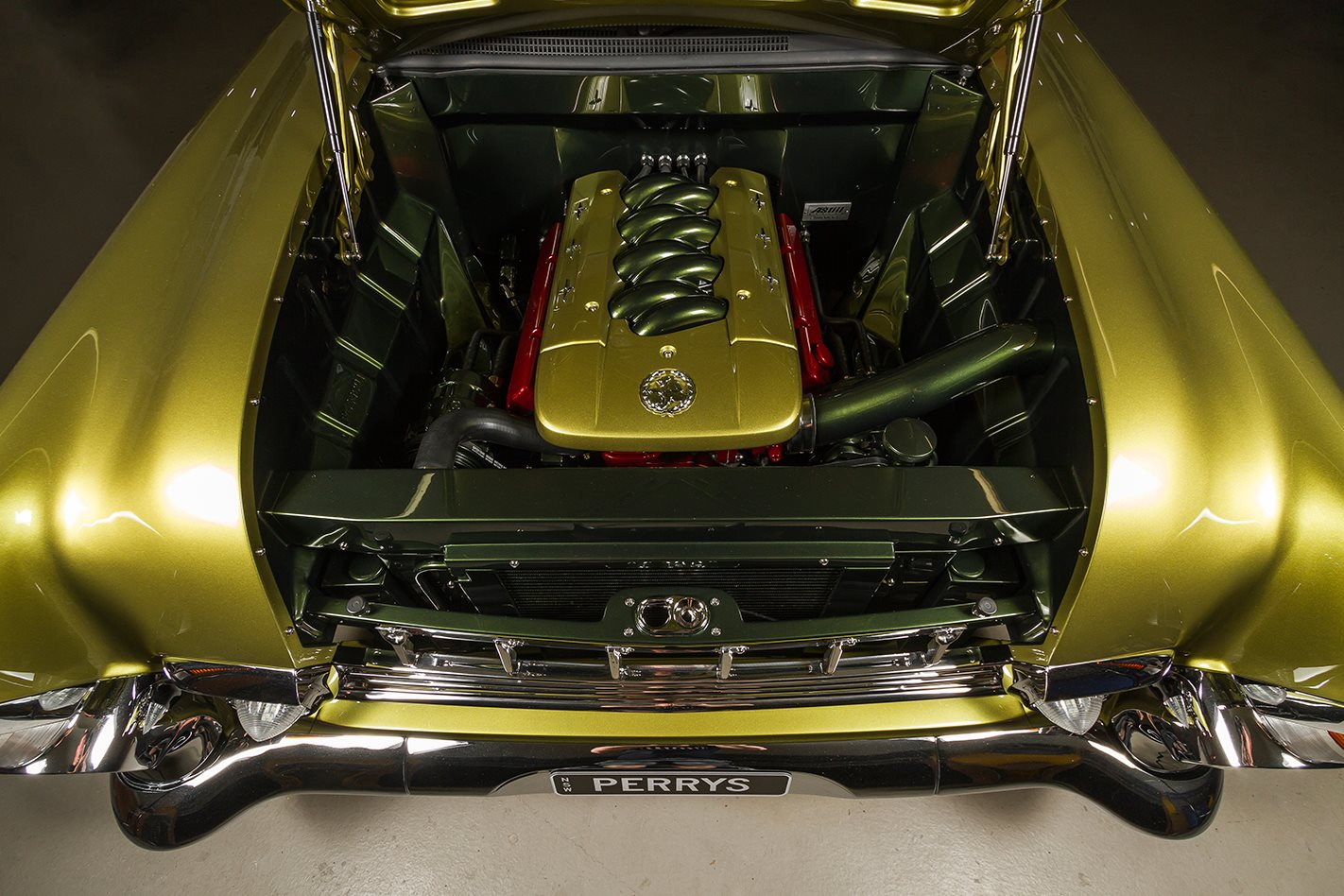 Holden FB Tailspin engine bay