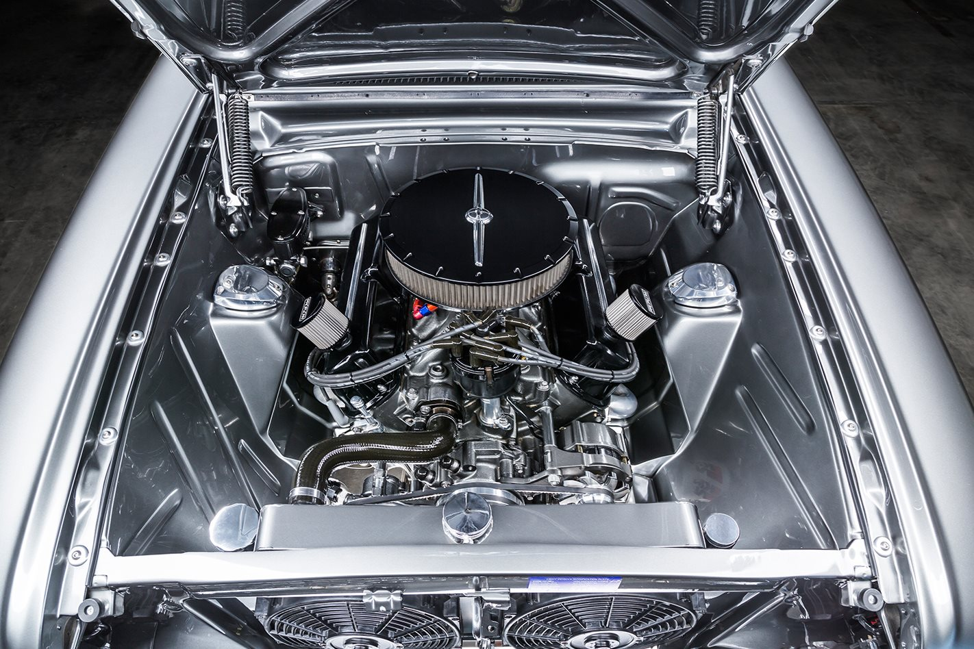 ford falcon xm coupe engine bay
