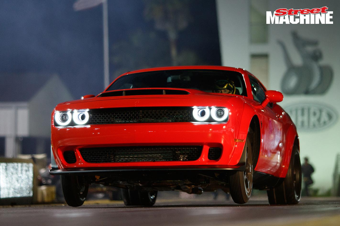 Dodge challenger demon capable of nine second quarter mile street machine