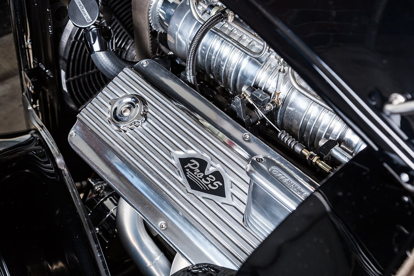 1935 Ford coupe engine
