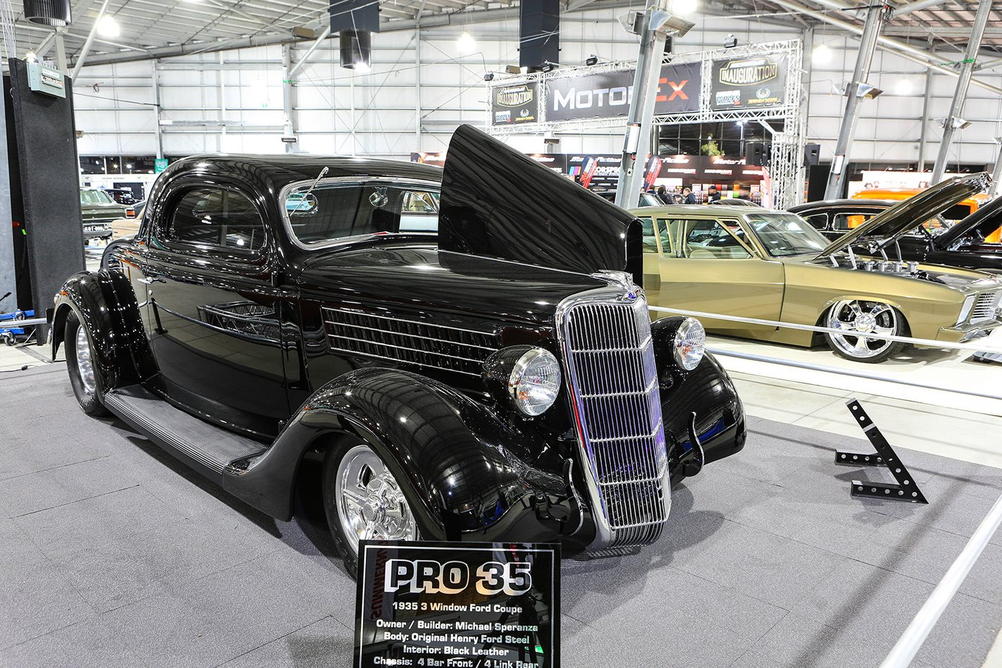 1935 Ford coupe on show