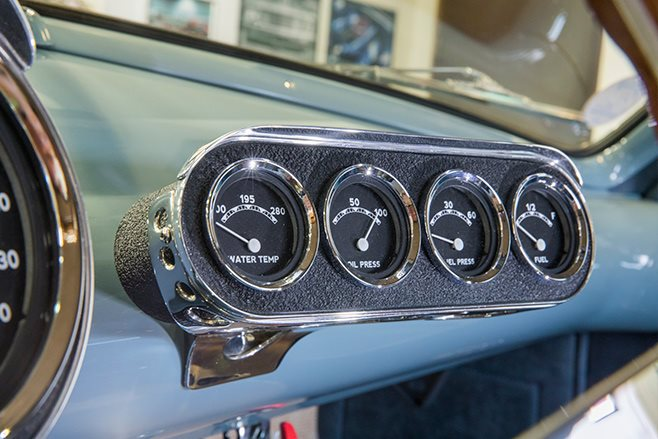 shoebox ford coupe gauges