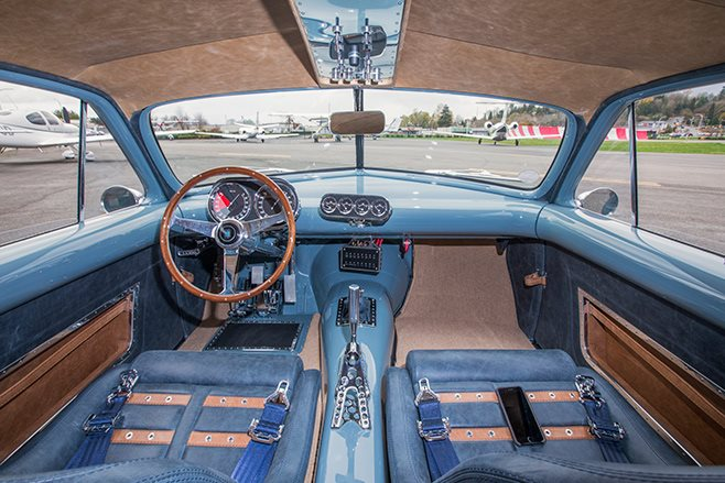 Shoebox Ford Coupe interior