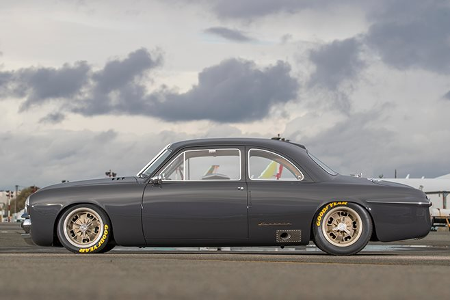 Shoebox Ford coupe side view