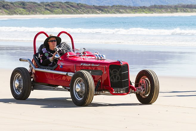 Flathead-powered replica of a 1935 Indy car