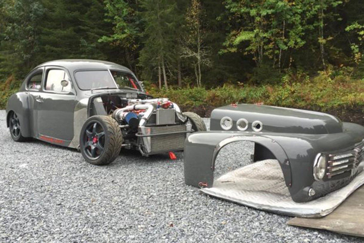 Powered Volvo Drift Car Video Street Machine