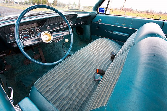 Chevrolet Belair bubbletop interior
