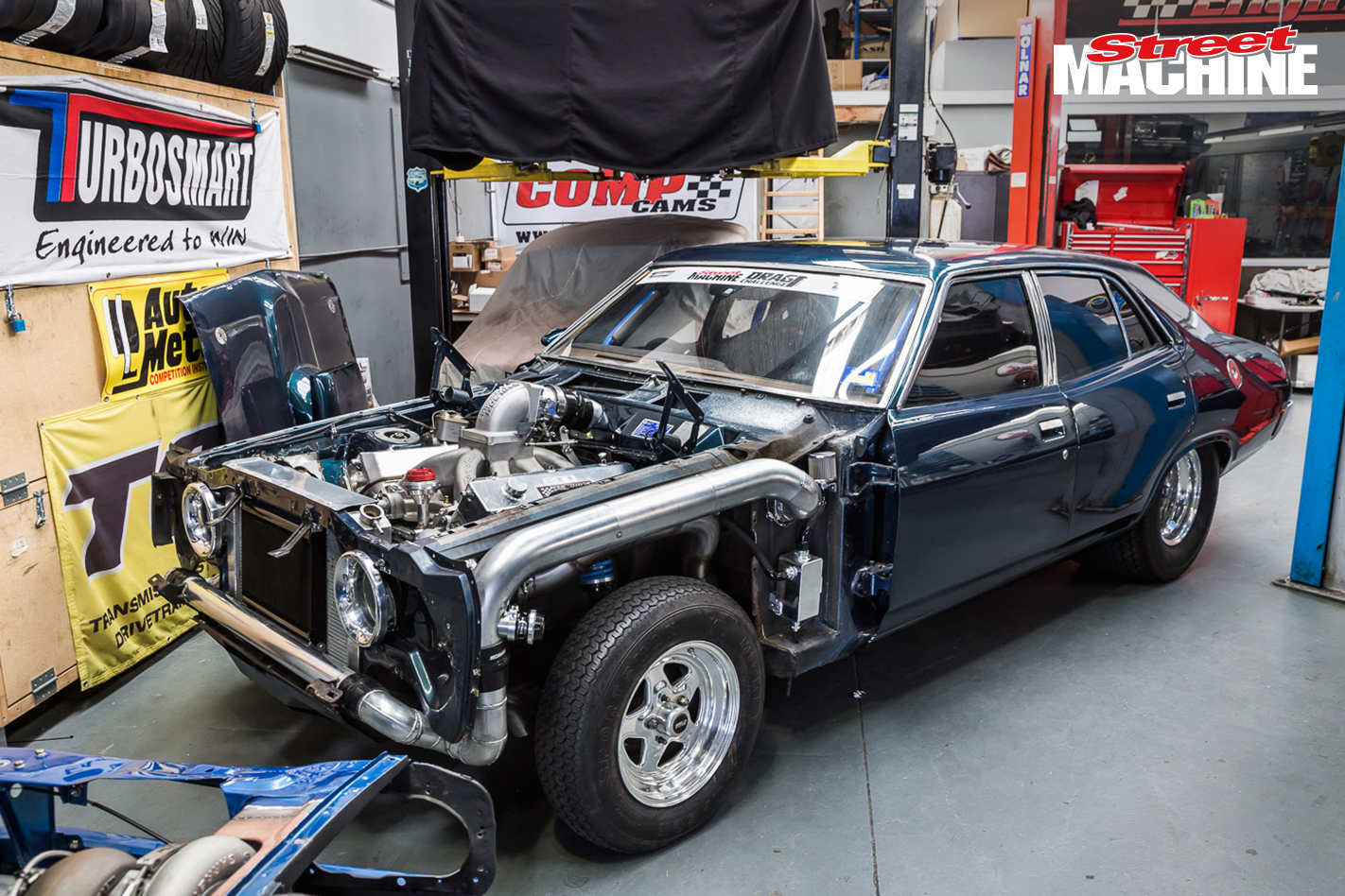 twin turbo big block xa falcon in the build for drag challenge. Black Bedroom Furniture Sets. Home Design Ideas