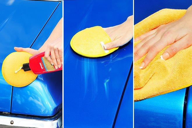 applying car wax