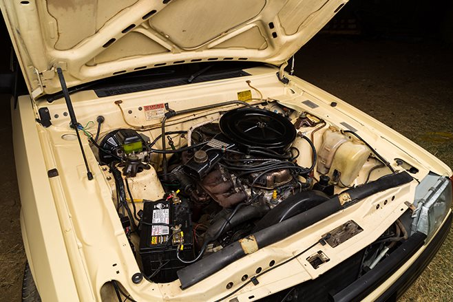 Ford Falcon XE engine bay