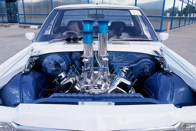 Holden HJ ute engine bay