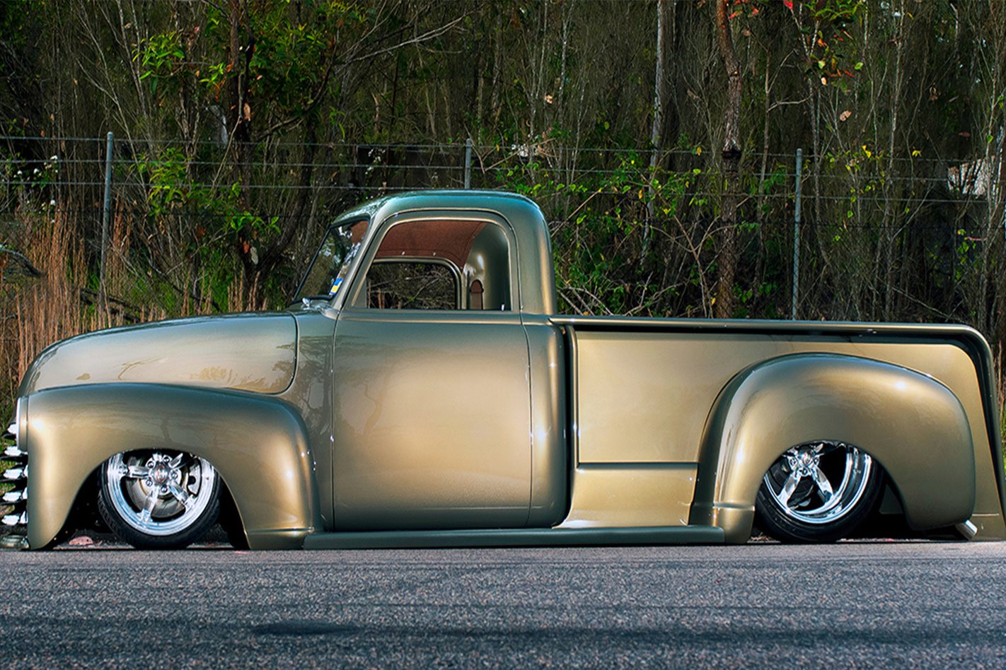 AARON GREGORY'S '51 CHEVY PICK-UP side profile