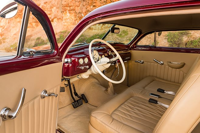 Mercury Coupe interior