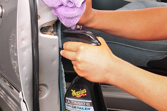 cleaning car door shuts