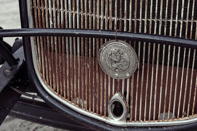 Ford coupe grille