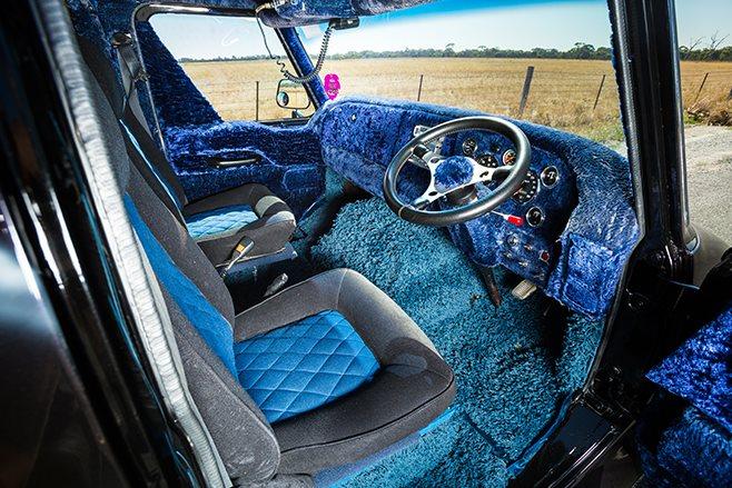 Bedford van interior front