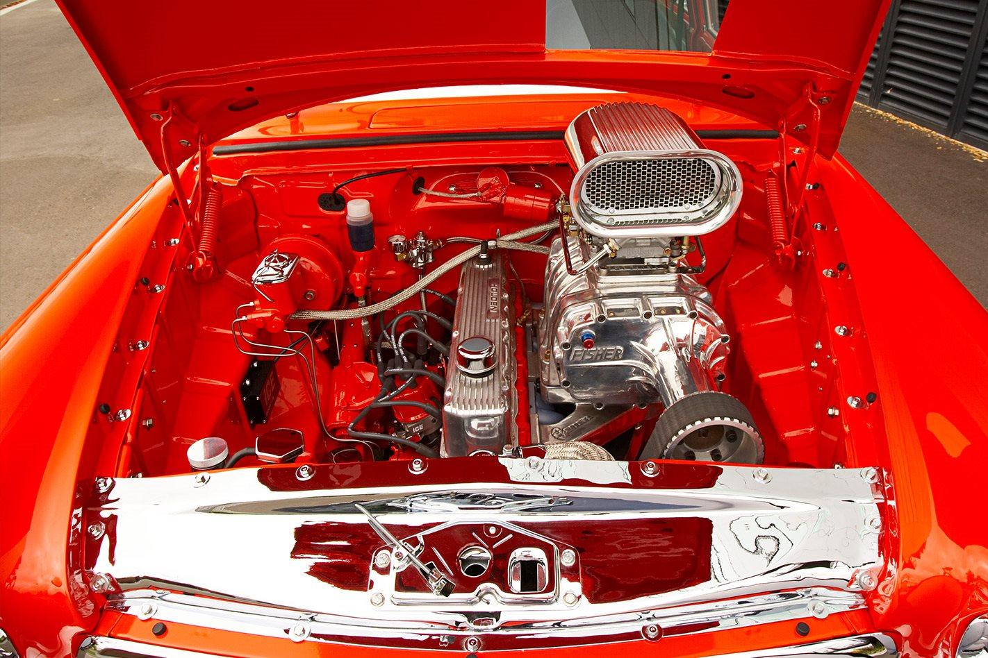 Holden FC wagon engine bay