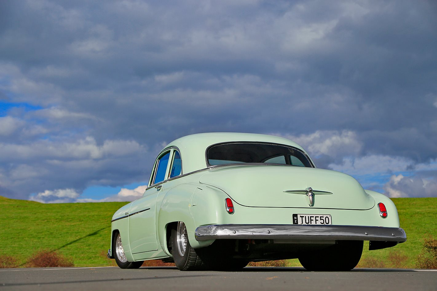 1950 V8 CHEV COUPE REAR