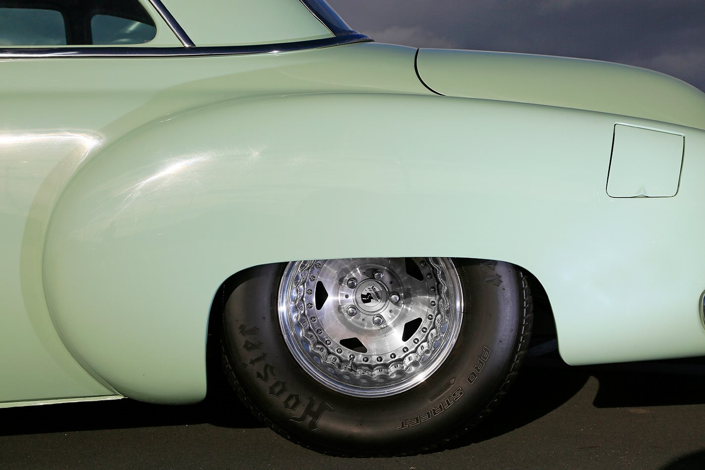 1950 V8 CHEV COUPE WHEEL