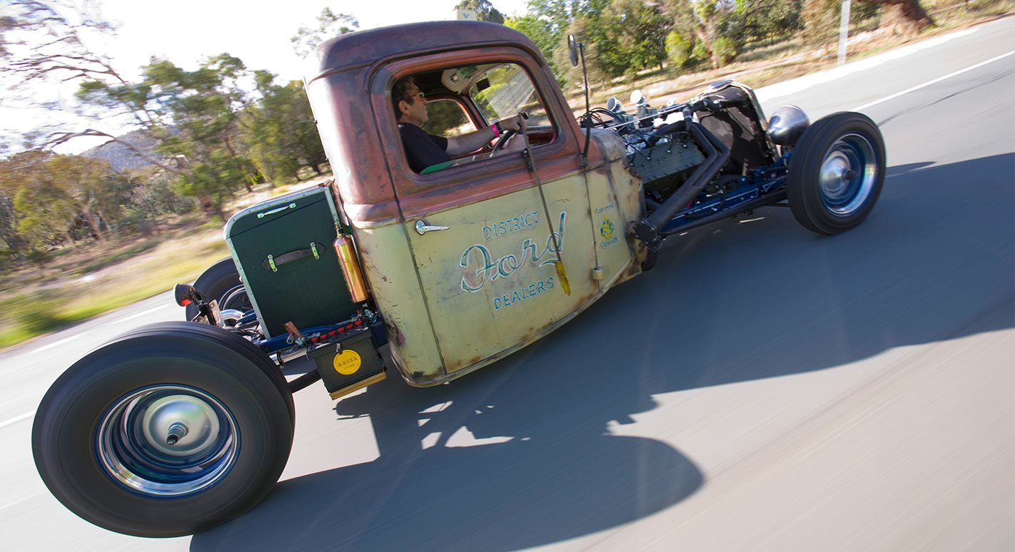 ROD HADFIELD'S CADILLAC FLATHEAD V8-POWERED 1935 FORD TRUCK