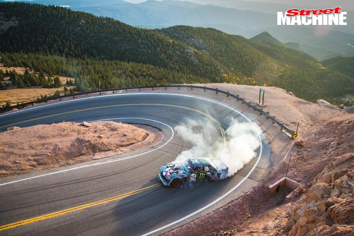 ken block tackles pikes peak in twin turbo all wheel drive mustang