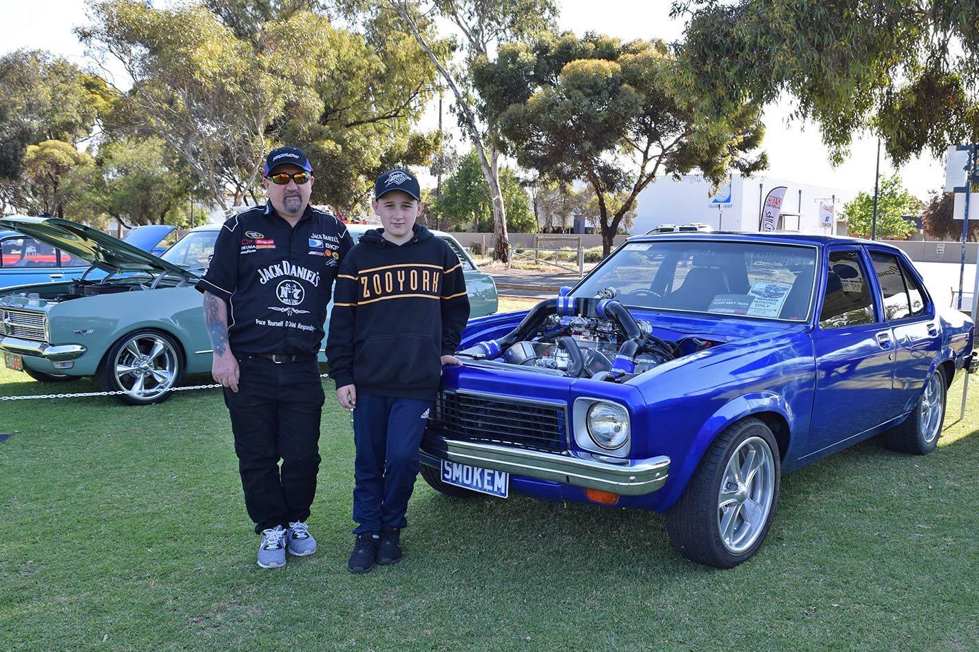 Glen McHale with son Brayden