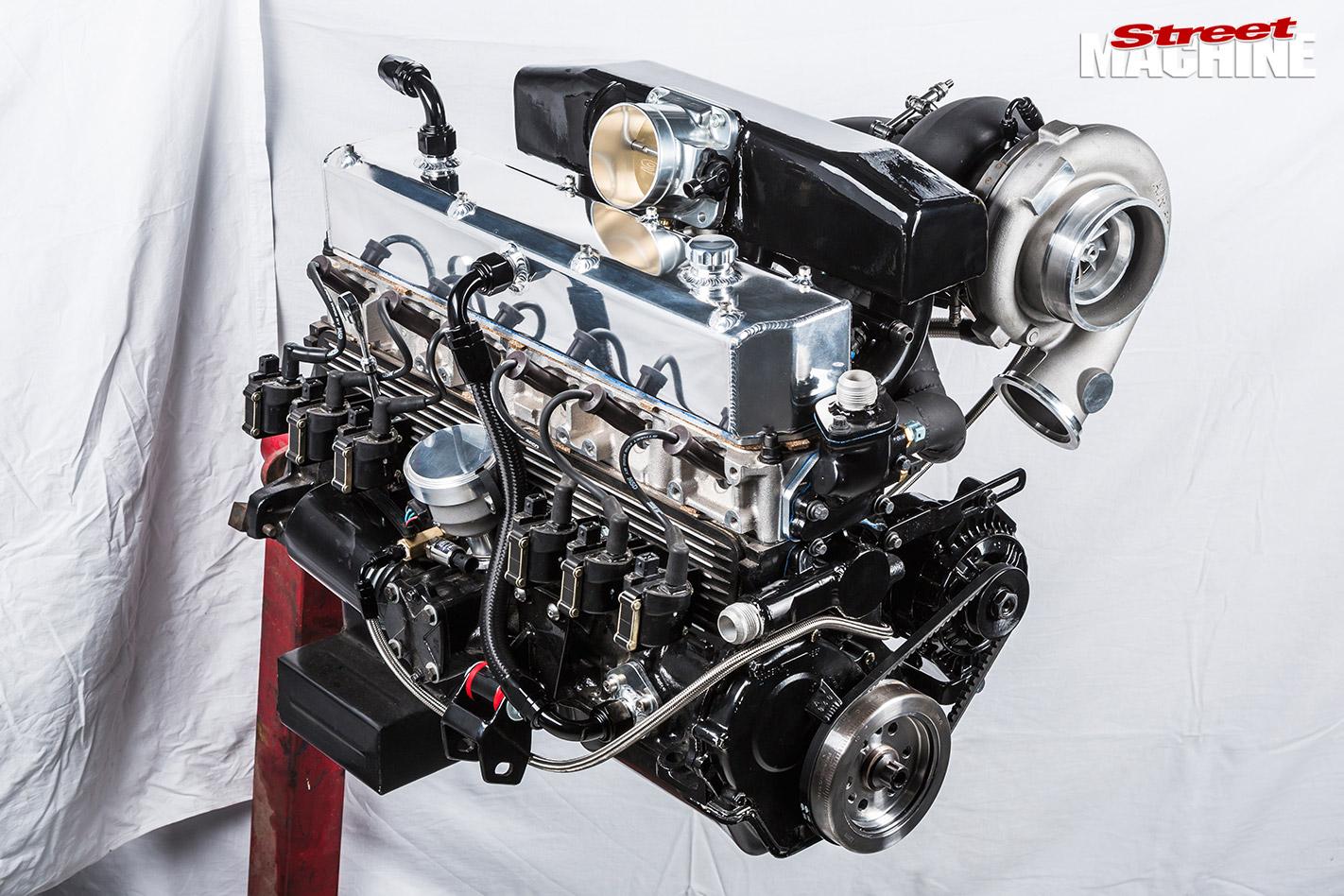turbocharged Holden 202 motor