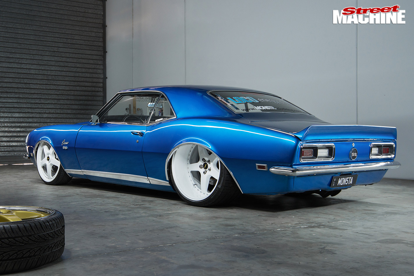 Turbo Ls Powered 1968 Chevrolet Camaro Chevy Project Car The Has A Custom Triangulated Four Link Rear End With Slam Specialties Ss 7 Airbags And Bilstein Shocks While Plated Arms Ridetech Reside