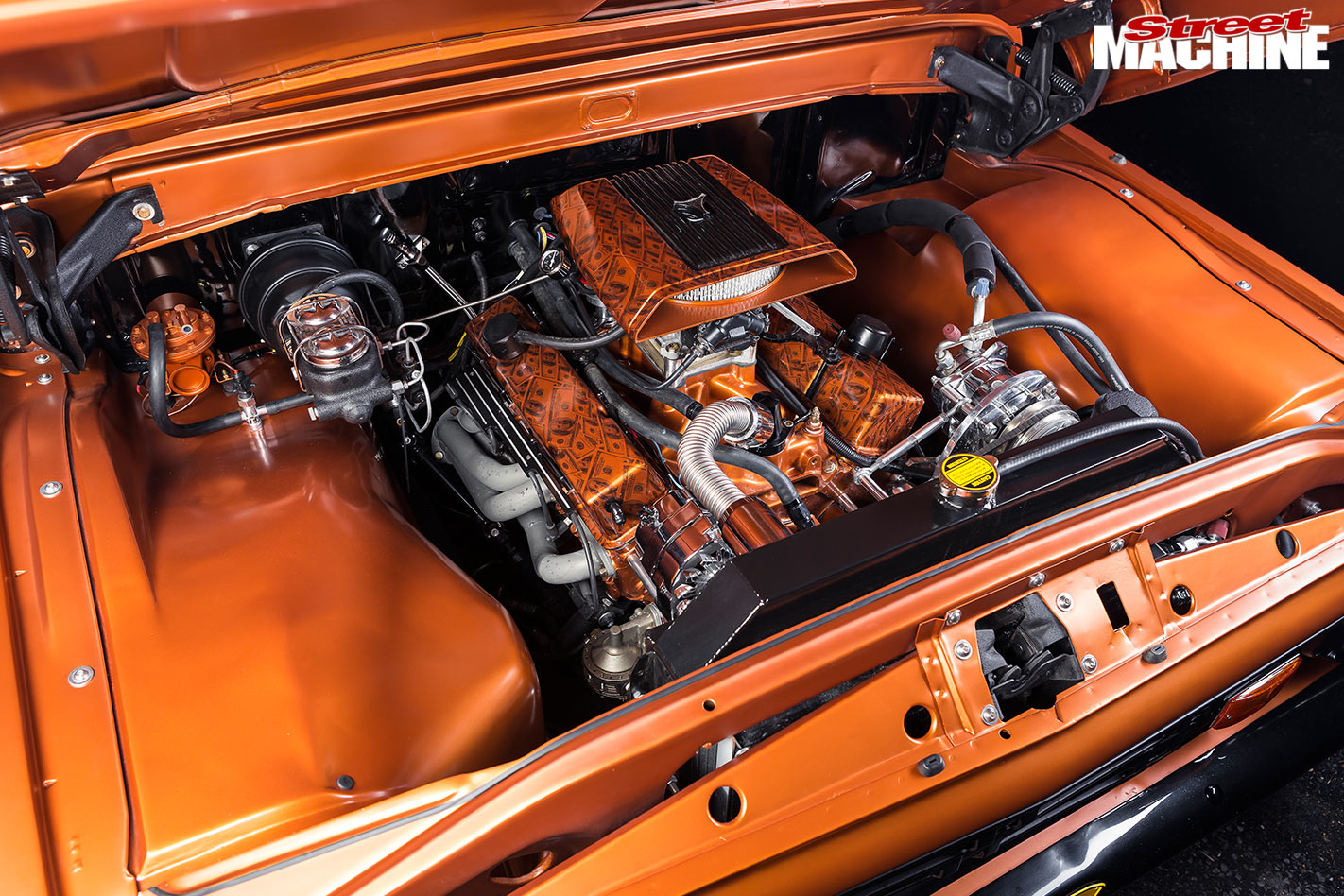 Ford F100 engine bay
