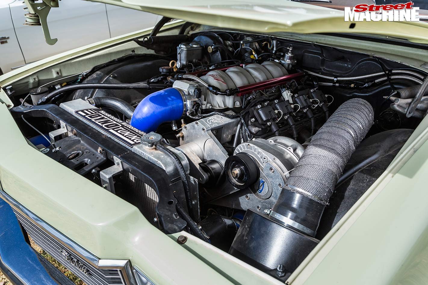 Holden HX wagon engine bay
