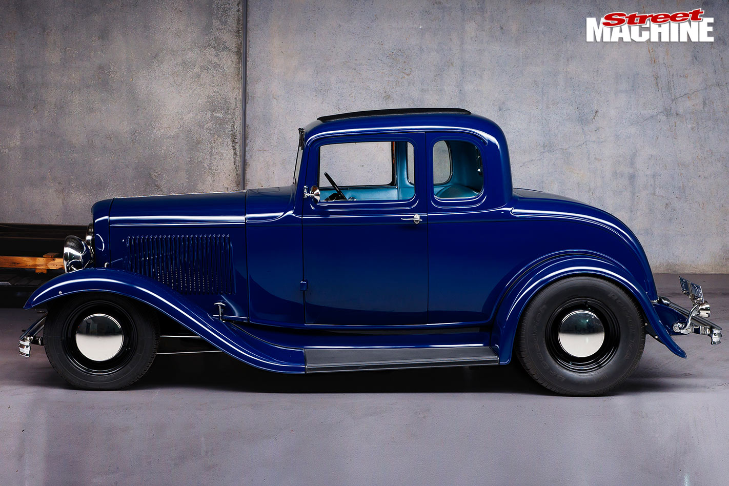 Blown Flathead Powered 1932 Ford Five Window Coupe Kool 32