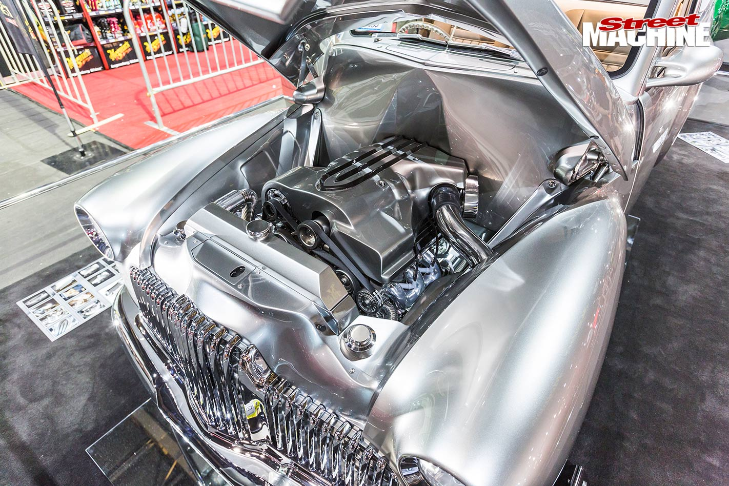 Holden FX ute engine bay