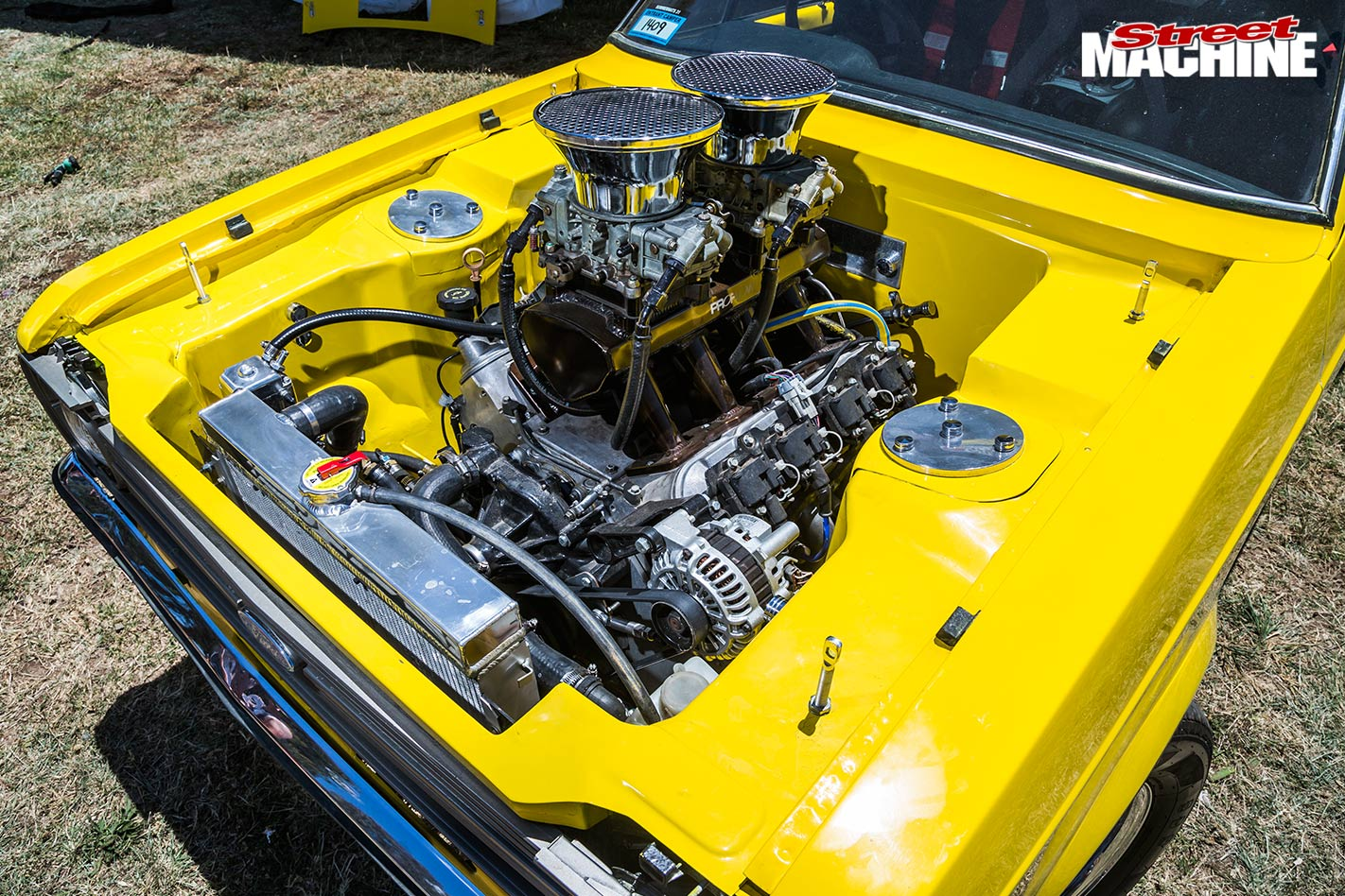 Ford Escort engine bay