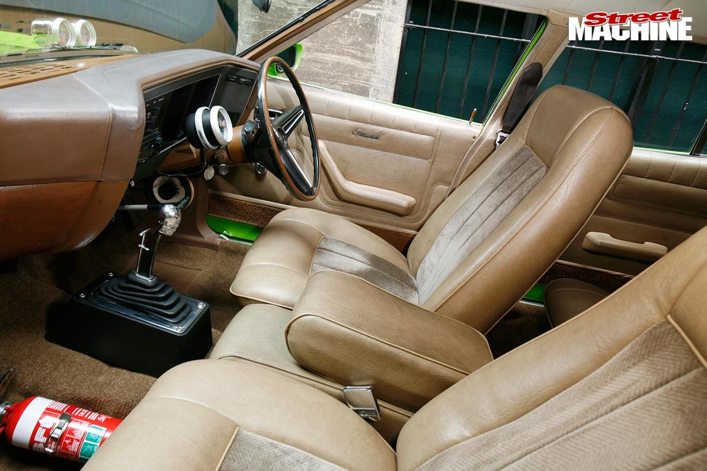 Ford XA wagon interior front
