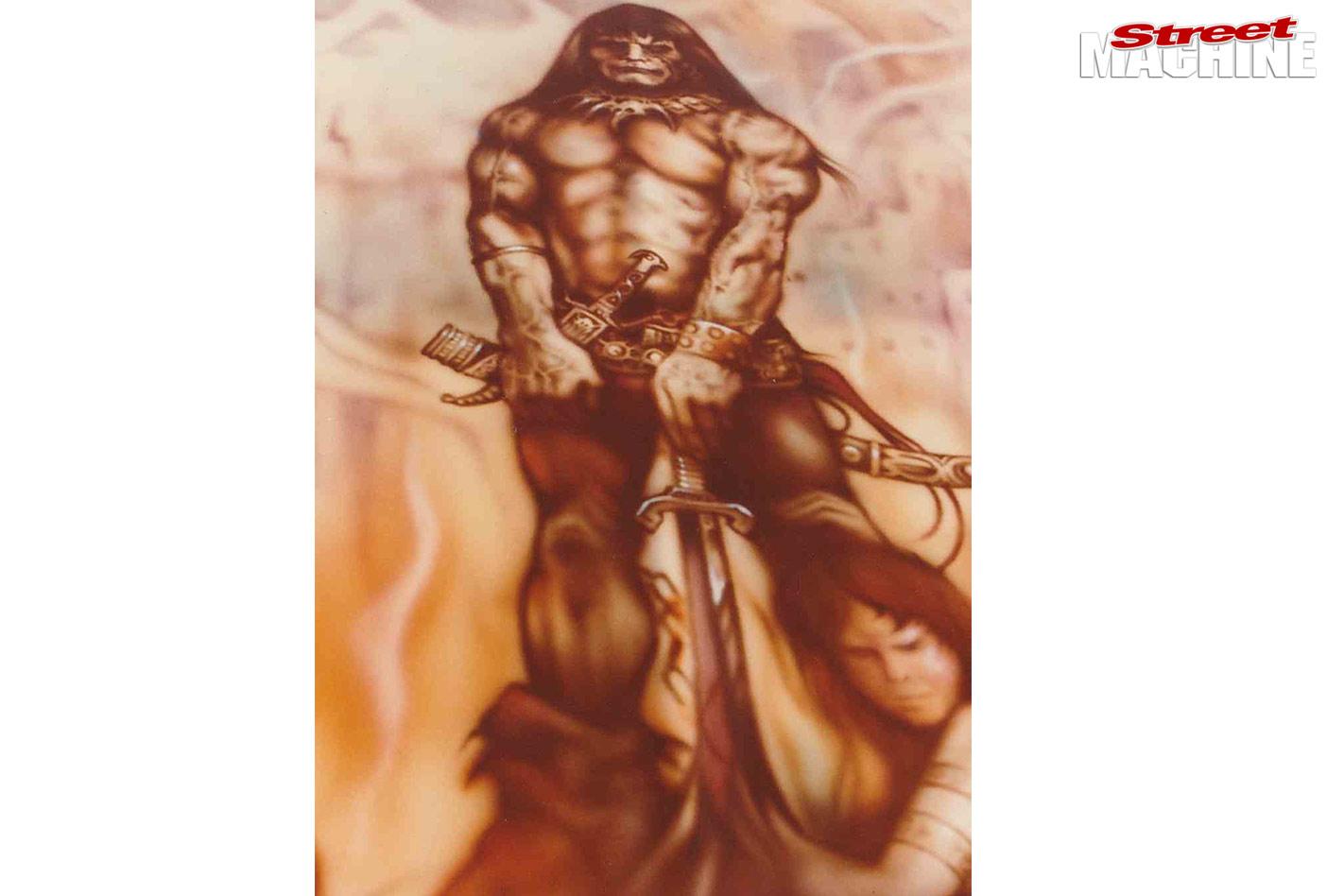 Conan The Barbarian mural