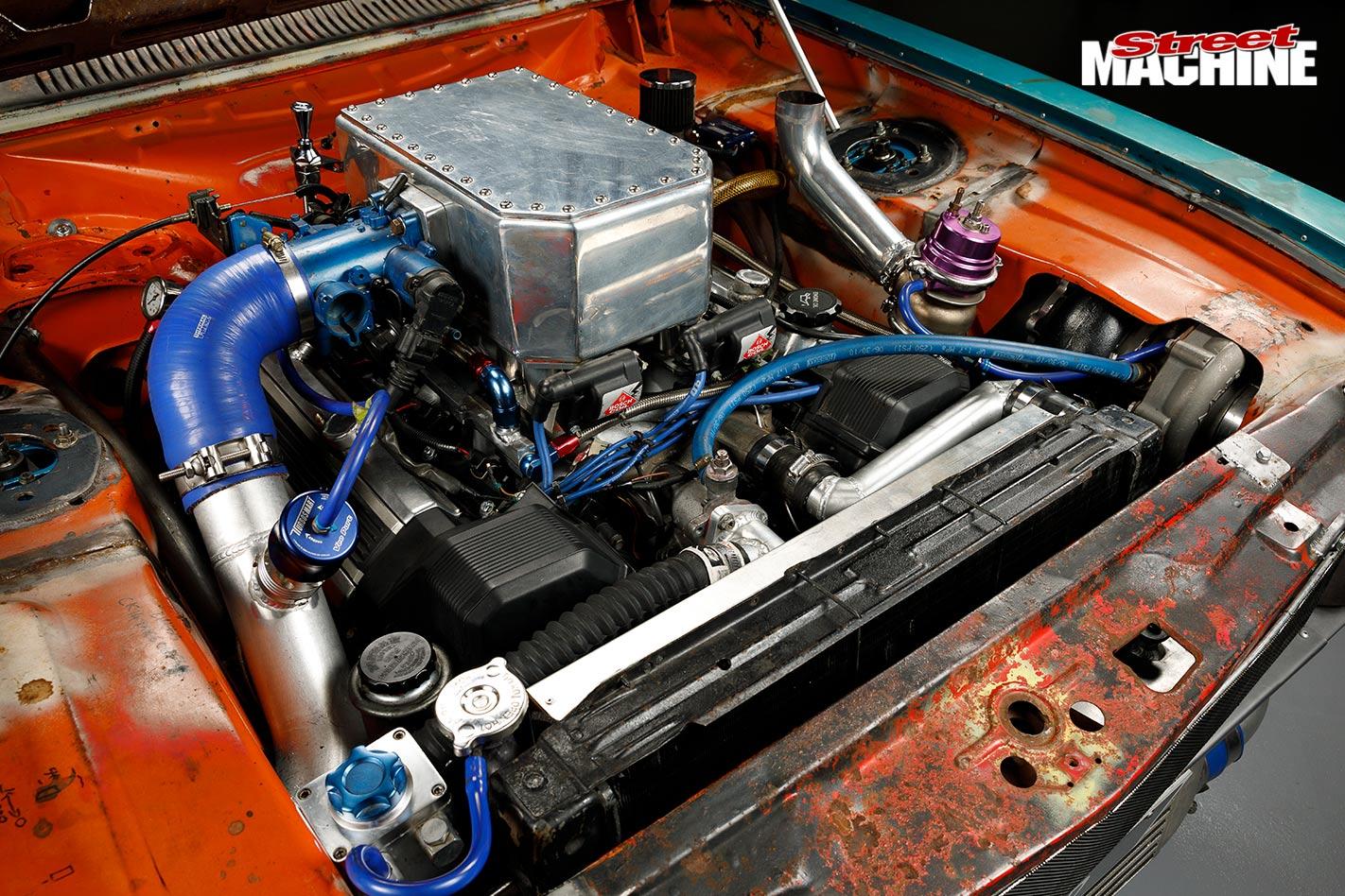 Ford Capri engine bay