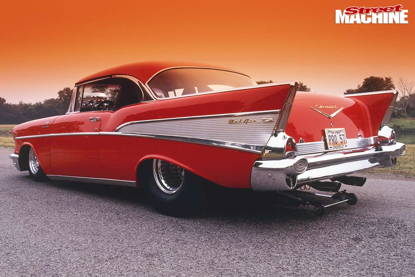 Blown Ls7 Powered 1957 Chevrolet Bel Air 57 Chevy Rear Bumper Chev
