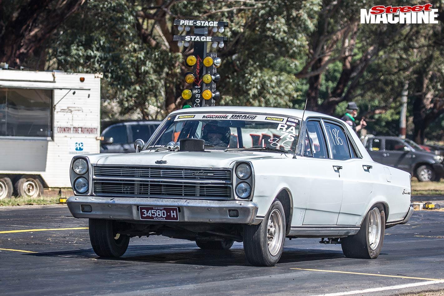 Ford ZC Fairlane Casterton street drags