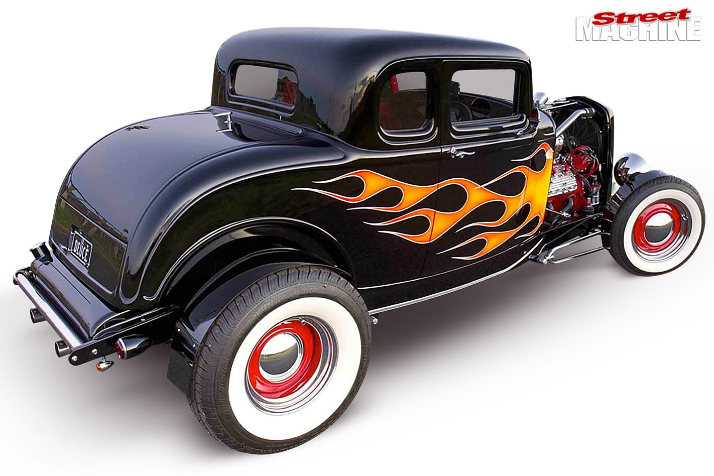 1932 five window hot rod