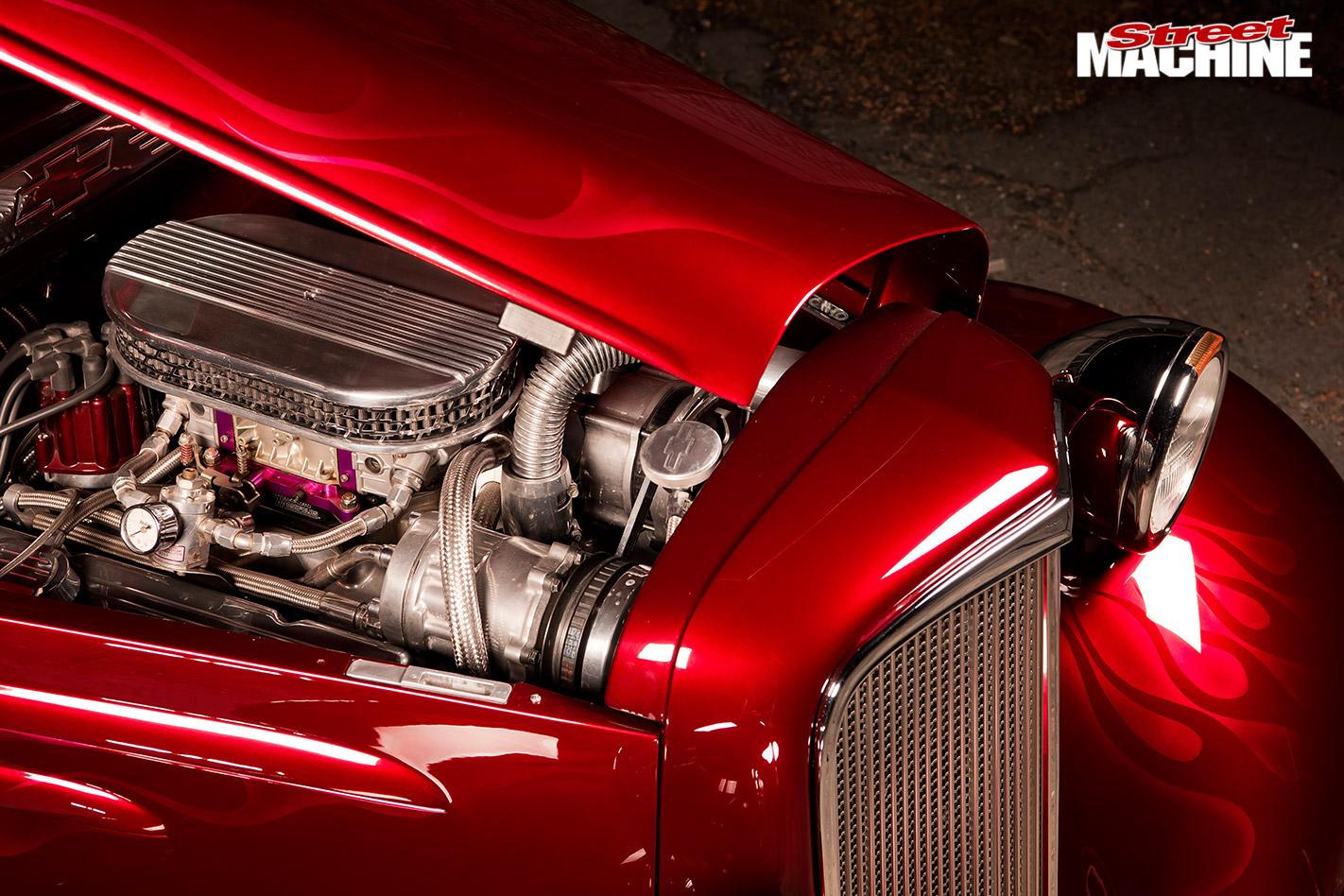 Chevy four-door sedan engine