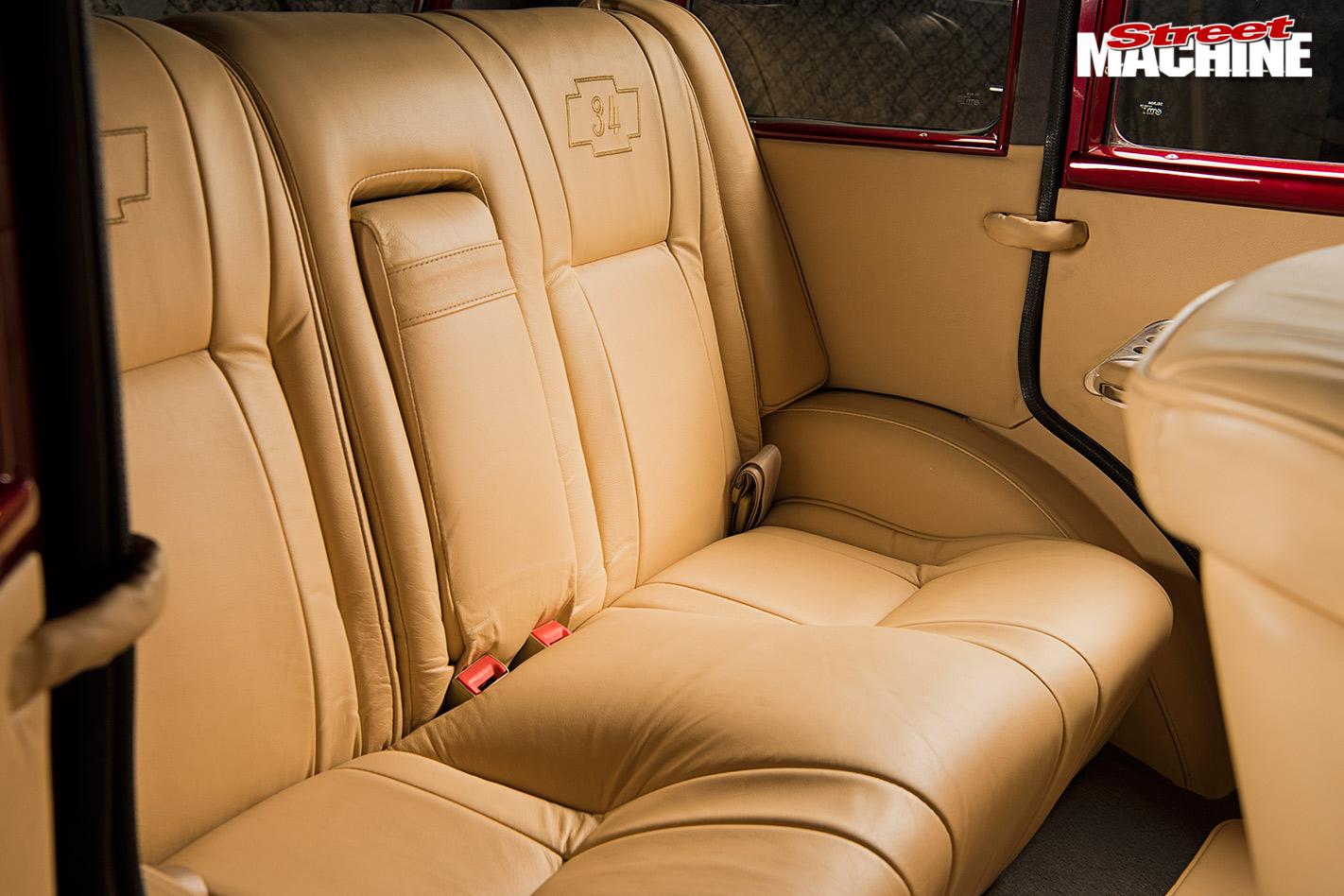 Chevy four-door sedan interior rear