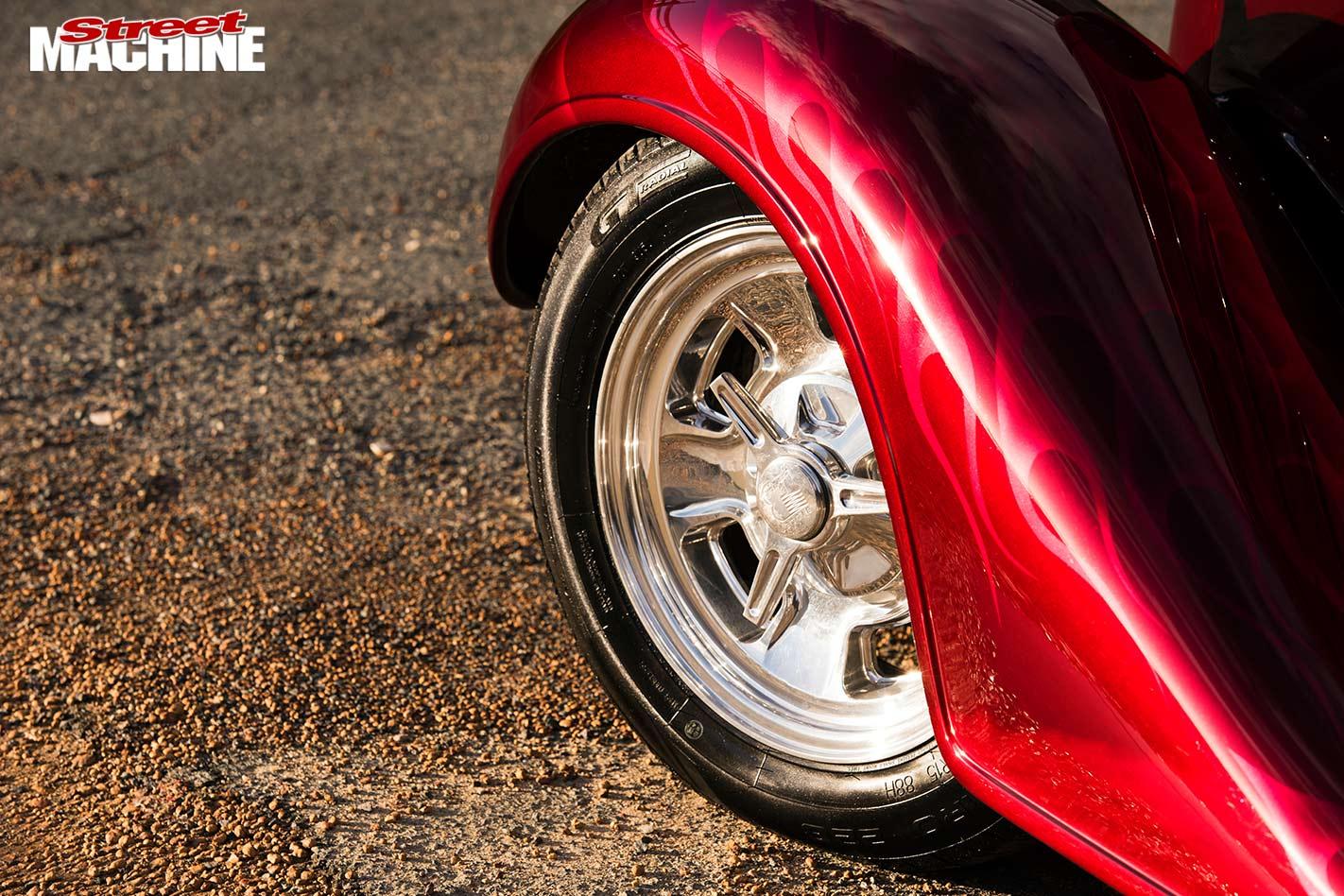 Chevy four-door sedan wheel