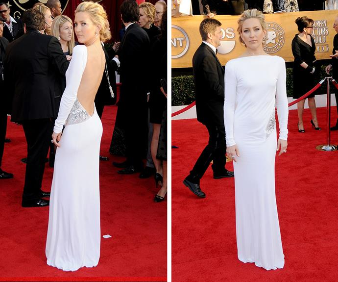 Kate Hudson proved that long sleeves can be sexy in this gorgeous Pucci gown. She stole the show back in 2010.