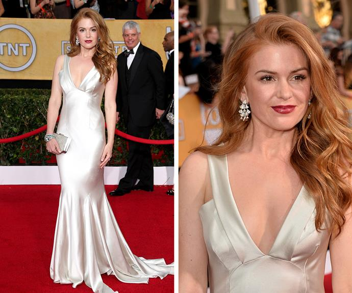 Isla Fisher's beautiful dress at the 2014 awards was a show-stopper!