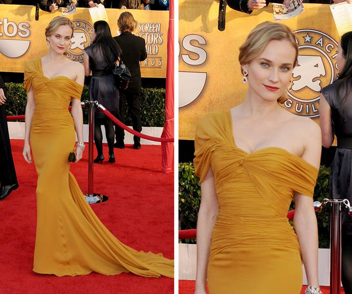 Diane Kruger wore this stunning Jason Wu gown to the SAG Awards in 2010.