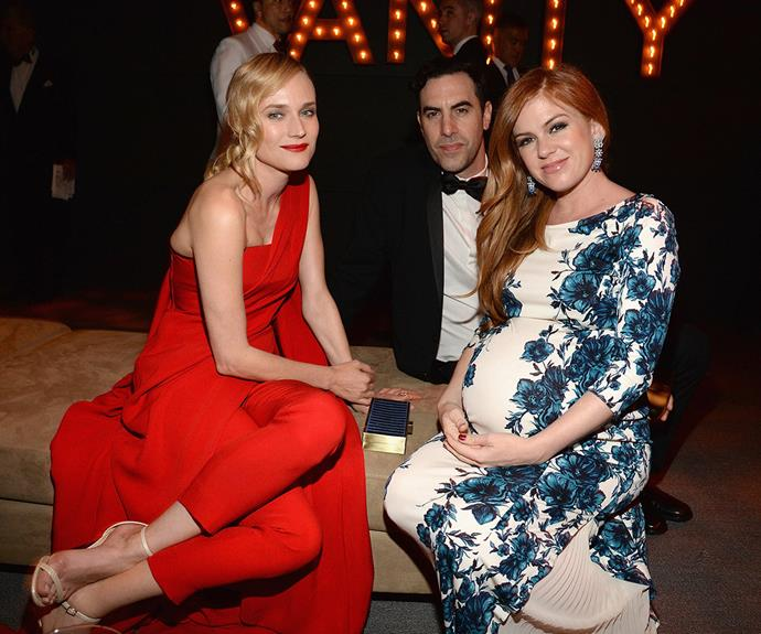 Diane Kruger, Sacha Baron Cohen and Isla Fisher catch up!