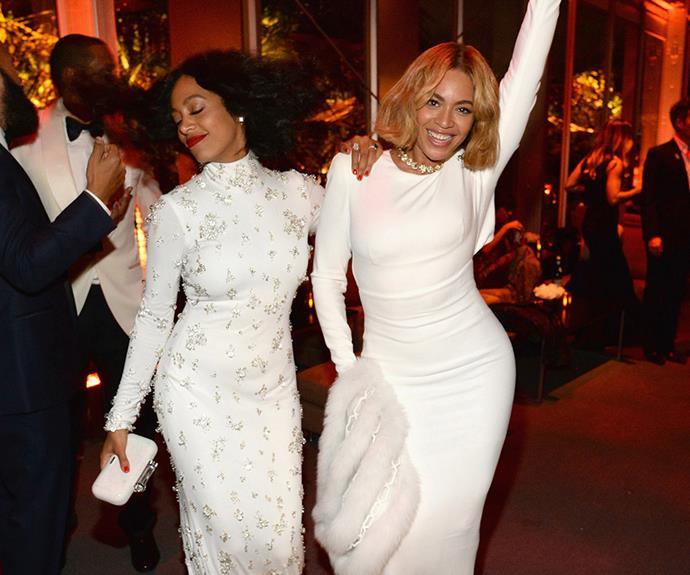 Singing sisters Beyonce and Solange hit the dancefloor!